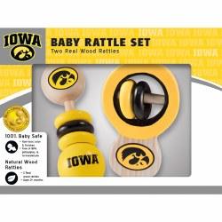Iowa Real Wood Baby Rattles