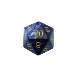 35mm D20 Blue/white w/gold