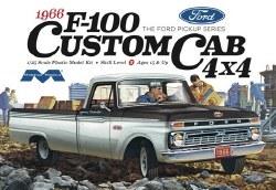 1/25 1966 Ford F-100 Custom Cab 4x4 Pickup Plastic Model Kit