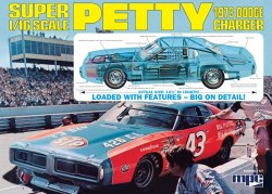 1/16 1973 Richard Petty Dodge Charger Plastic Model Kit