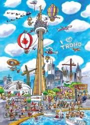 Doodle Town: Toronto 1000pc
