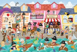 Floor Puzzle: Pirates on Vacation - 36pc