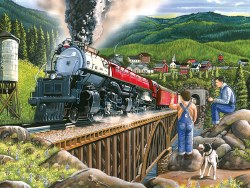 Steaming Out of Town - Train 275pc
