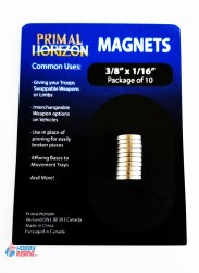 Magnets: 3/8 in x 1/16 in (10)