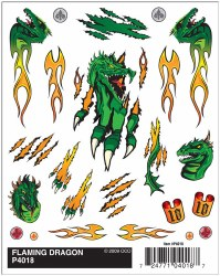 Decal - Dry Transfer: Flaming Dragon