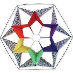 Clarke's Crystal Box Kite - Rainbow