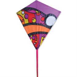 "30"" Diamond Kite - Warm Orbit"