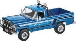 1/25 1980 Ice Patrol Honcho Jeep Pickup Truck w/snowmobile Model Kit