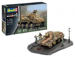 1/76 Sd.Kfz. 234/2 Puma German Tank Plastic Model Kit
