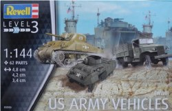 1/144 US Army Vehicles (WWII) Plastic Model Kit
