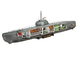 1/144 German U-Boat Type XXI Submarine w/interior Plastic Model Kit