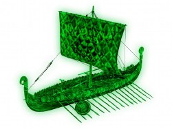 1/50 Viking Ghost Ship Plastic Model Kit