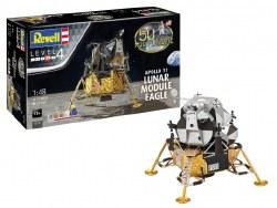 1/48 Apollo 11 Lunar Module Eagle Plastic Model Set with paint & glue