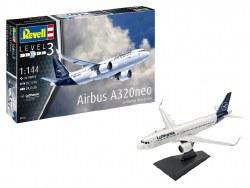 "1/144 Airbus A320 neo Lufthansa ""New Livery""  Plastic Model Kit"