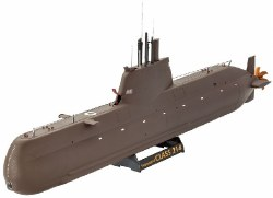 1/144 U-Boat Class 214 Submarine Plastic Model Kit