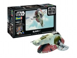"""1/88 Star Wars Slave 1 40th Anniversary """"The Empire Strikes Back"""" Plastic Model Set with paint & glue"""