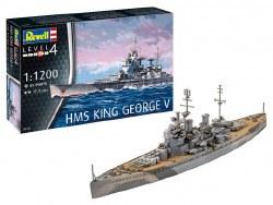 1/1200  HMS King George V Model Set with paint & glue