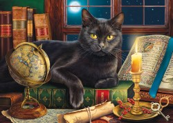 Black Cat by Candlelight 500+pc Puzzle
