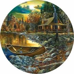 Round: Fall Cabin - 500pc Puzzle
