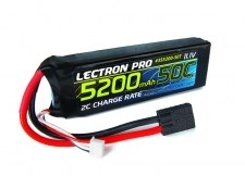 Lectron Pro 11.1V 5200mAh 50C Lipo Battery with Bare Leads