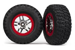 Tires/Wheels Assembled - SCT 2WD - Red