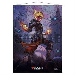 Stained Glass Planeswalker Wall Scroll Chandra for Magic the Gathering