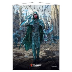 Stained Glass Planeswalker Wall Scroll Jace for Magic the Gathering