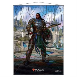 Stained Glass Planeswalker Wall Scroll Gideon for Magic the Gathering