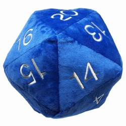 Jumbo D20 Novelty Dice Plush - Blue with White Numbers