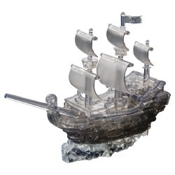 3D Crystal Puzzle- Black Pirate Ship Deluxe