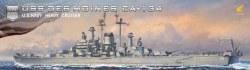 1/700 USS Des Moines CA134 Heavy Cruiser Plastic Model Kit