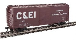 Chicago & Eastern Illinois - 40' ACF #3301 Welded Youngstown Door Box Car