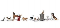 Dogs & Cats - HO Scale
