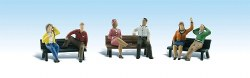 People on Benches HO Scale