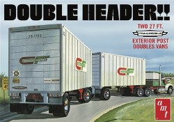 1/25 Double Header Tandam Van Trailers