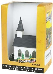 Country Church Built-Up - N Scale