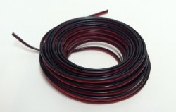 Wire - 22 Gauge 2-Conductor Strand Copper (Red,Black)