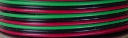 Wire - 22 Gauge 3-Conductor Strand Copper (Red,Black, Green)