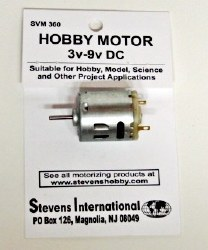 Hobby Motor - 3v - 9v DC - Round - for Higher RPM