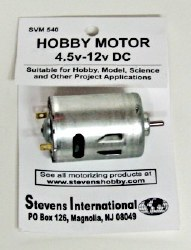 Hobby Motor - 4.5v - 12v DC - Round - for High Endurance
