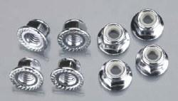 Nuts 5mm Flanged Nylon Locking E-Maxx