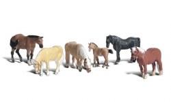 Farm Horses HO Scale