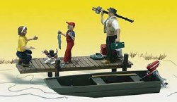 Family Fishing HO Scale