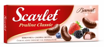 Banat Scarlet Chocolate Pralines with Blueberry, Straberry & Blackberry 200g