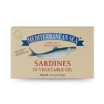 Mediterranean Sea Sardines in Vegetable Oil 124g