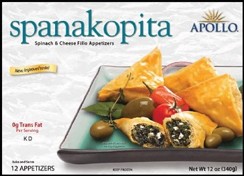 Apollo Spanakopita Spinach and Cheese Pastry 340g F
