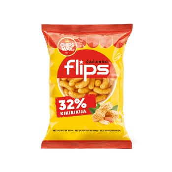 ChipsWay Flips with Peanuts 40g