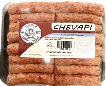 Europa Charcuterie Pork and Beef Cevapi 32pcs 44oz F