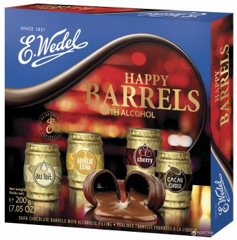 E. Wedel Happy Barrels with Alcohol Chocolate Gift Box 200g