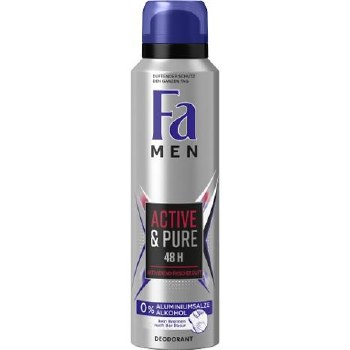 Fa Mens Active and Pure Deodorant Spray 150ml
